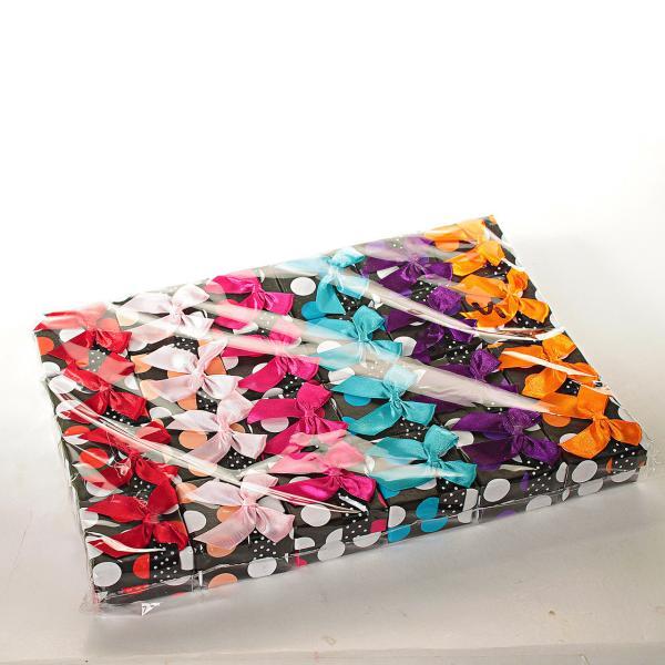 Подарочная коробочка для украшений маленькая 24 шт. Ассорти цветов Горошек [5/5/4 см]