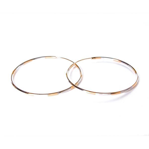 [55мм] Серьги-конго кольца  Gold, Silver