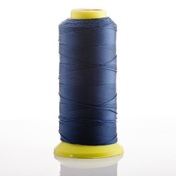 Нитка синий Сапфировый d-0.9 мм капроновая для рукоделия 500 м