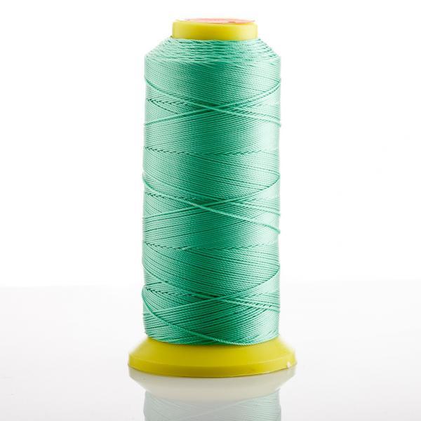 Нитка зеленый Мятный d-0.9 мм капроновая для рукоделия 500 м