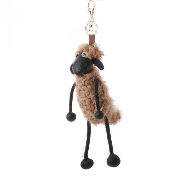 Брелок Барашек Шон коричневая шерсть 23см ( овечка )