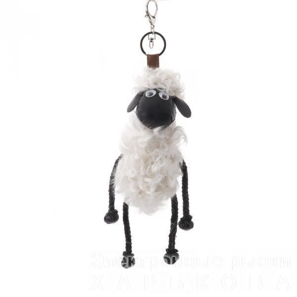 Брелок Барашек Шон белая шерсть 23см ( овечка )