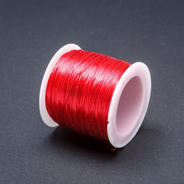 Резинка для рукоделия катушка Красный L-50м
