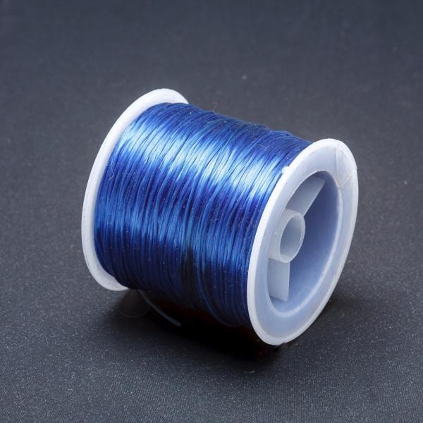 Резинка для рукоделия катушка Синий L-50м