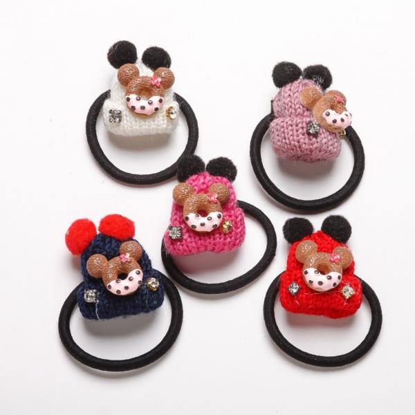 Резинка для волос набор Шапочка пончик  5 цветов