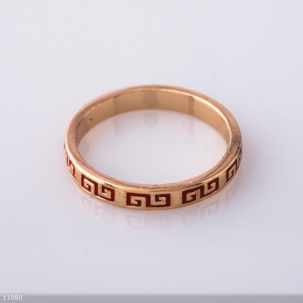 """Кольцо Хьюпинг цвет """"золотой"""" , греческий узор"""