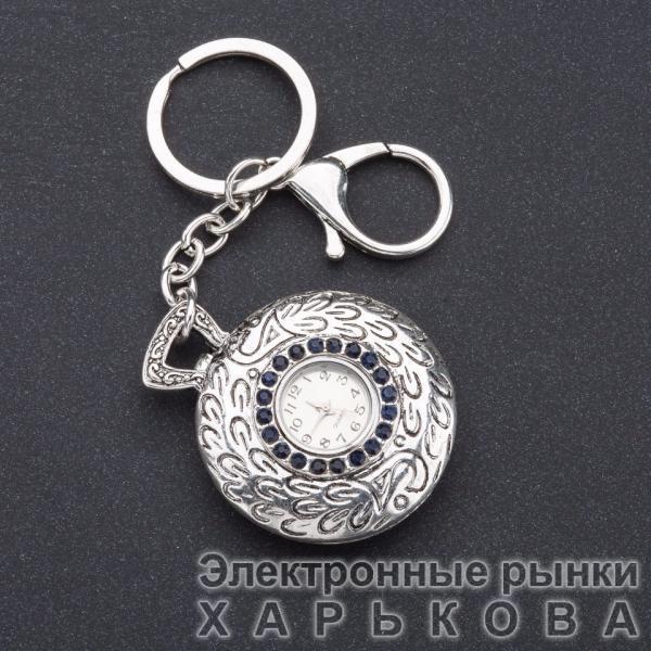 "Брелок часы женский ""Винтаж"" цвет металла ""серебро"" d-4 см - Брелоки на рынке Барабашова"