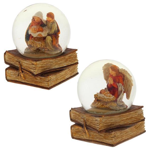 Фигурка декоративная в стеклянном шаре, 65 мм, 2 в.
