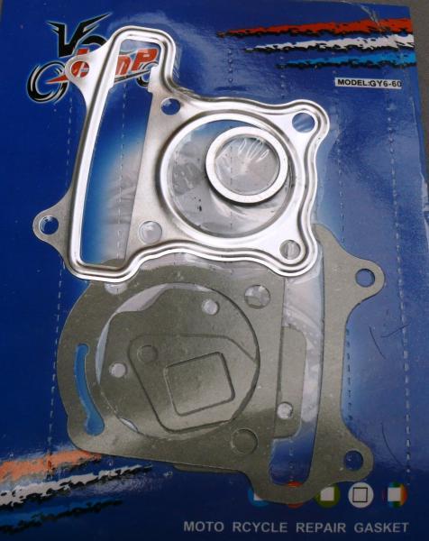 Набор прокладок цилиндра: GY6-60