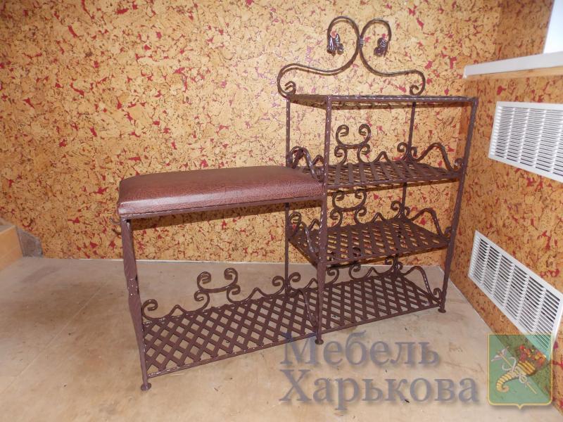Этажерка двойная  для обуви и сумок - Кованые этажерки и полки в Харькове