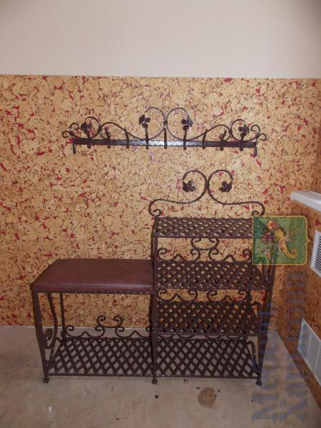 Комплект в прихожую этажерка двойная с вешалкой - Прихожие в Харькове