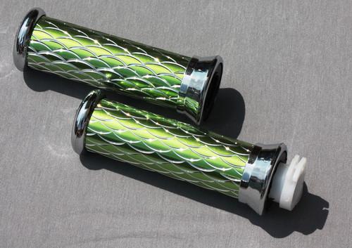 Ручки руля (чешуя) зеленые