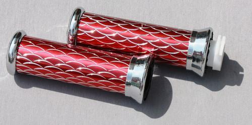 Ручки руля (чешуя) красные