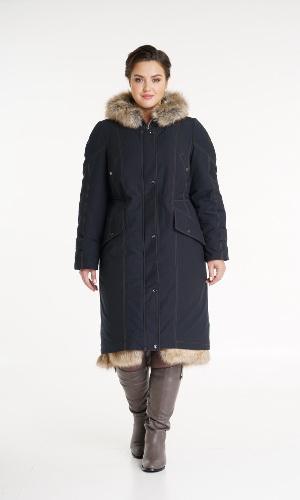 Пальто с мехом женское