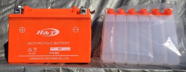 АКБ 12V 9А скутер заливной оранжевый 106x86x150
