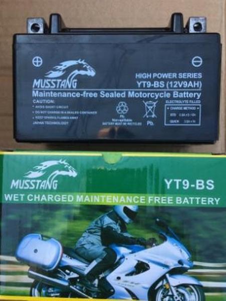 АКБ YT9-BS пастовый черный 85x95x150 MUSSTANG