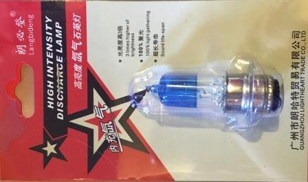 Лампа фары 12V35/35W (1 ус синяя блистер)