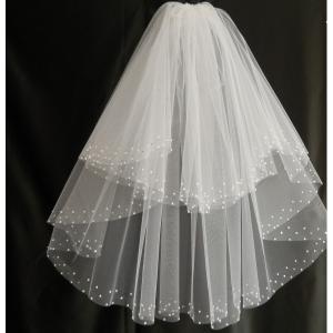 Фото Свадебная фата Фата с жемчугом