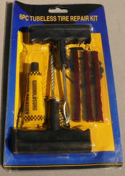 Рем. комплект для бескамерки (шнурки с клеем и 2 шила)