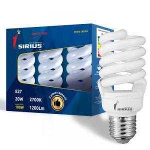 Фото Лампы люминисцентные Люминесцентная лампа Сириус ЭКО 20W Мягкий свет Спираль E27