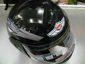 Фото Экипировка Шлем черный с рисунком