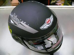 Фото Экипировка Шлем черный матовый с рисунком