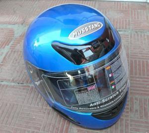 Фото Экипировка Шлем Мустанг синий маленький размер