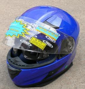 Фото Экипировка Шлем с очками синий