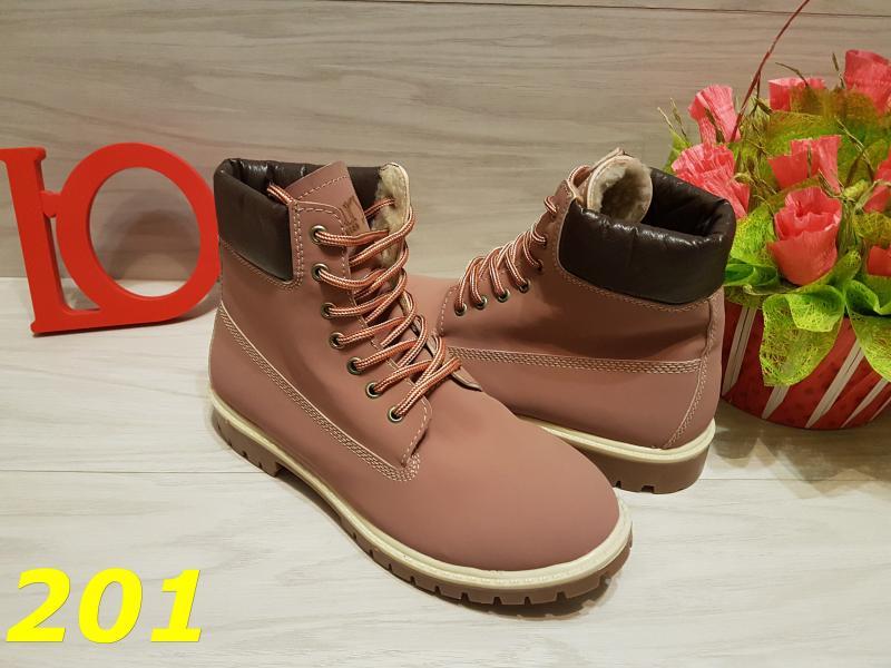 Ботинки тимбер розовые