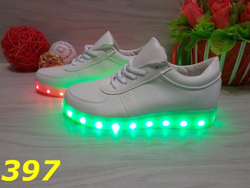Белые кеды с LED подсветкой