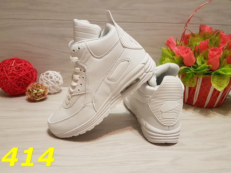 Высокие кроссовки аирмаксы белые 55314a5d05390