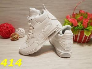 Фото Кроссовки, кеды Высокие кроссовки аирмаксы белые
