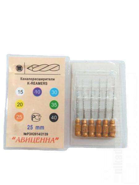 Фото Для стоматологических клиник, Эндоинструменты K-reamers (К-римеры ручные каналорасширители -