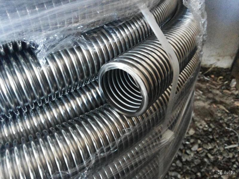 Шланг гофрированный гибкий из нержавеющей стали DN12 в бухтах от 10м