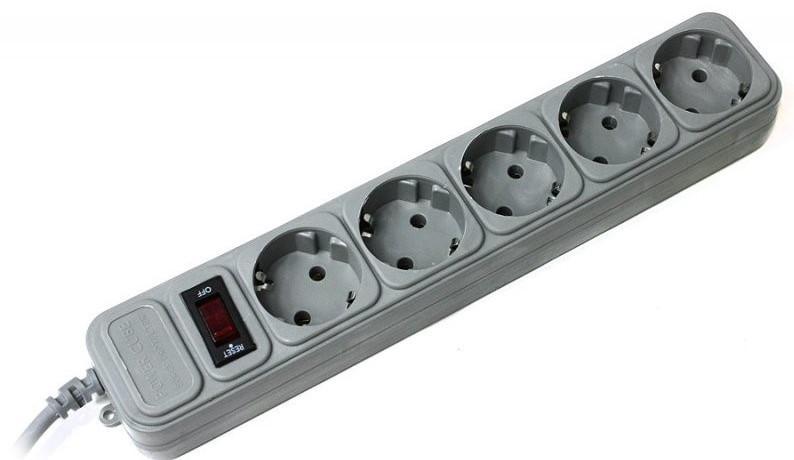 """Сетевой фильтр """"Gembird""""/""""Maxtra"""" SP5-G-6W 5 гнезда, длина: - 1.8 метра"""
