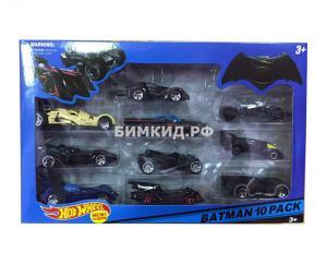 Фото Хот Вилс Набор 10 машинок Хот Вил Бэтмен (Batman Hot Wheel)
