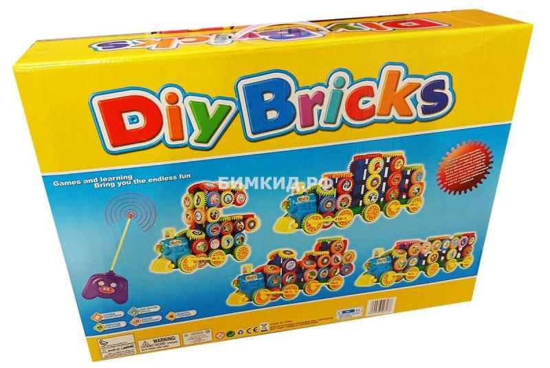 Конструктор 164 дет. Поезд на радиоуправлении Diy Bricks