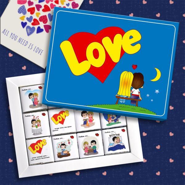 "Шоколадный набор ""Love is"" 60г"