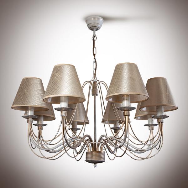 Изабелла Люстра с абажуром 8 ламп