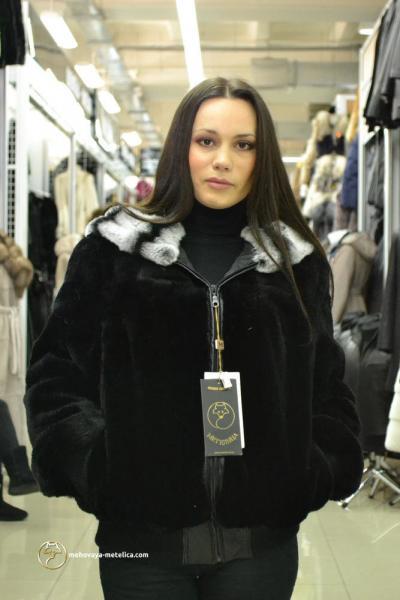 Куртка из меха бобра «Аретеса»