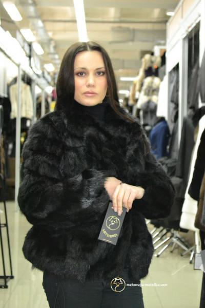 Куртка из меха лесной норки «Аманда»