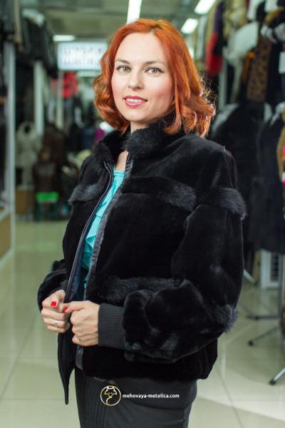Элегантная куртка из бобра «Рея»