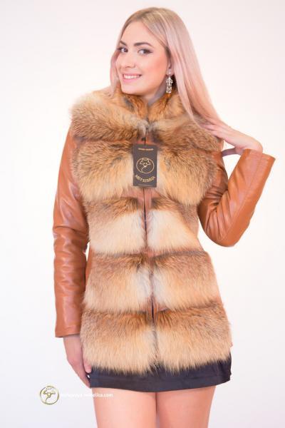 Куртка-трансформер из меха лисы «Илана»