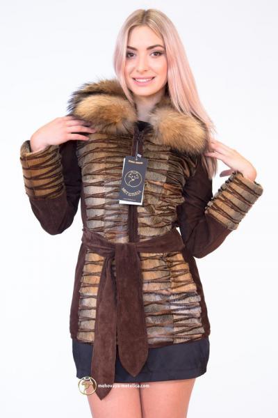 Куртка-трансформер из меха морского котика «Аса»