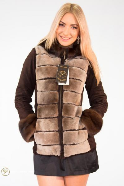 Куртка-трансформер из меха бобра «Зара»