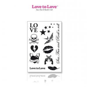 Фото Интимные товары, Секс приколы, Секс-игры, Подарки, Интимные украшения Набор временных тату Love to Love - Rock My Tattoo