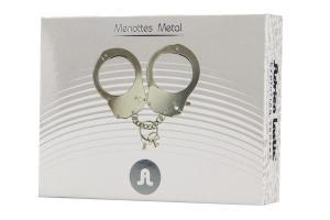 Фото BDSM и электростимуляторы, BDSM игрушки и аксессуары Наручники металлические Adrien Lastic Handcuffs Metallic