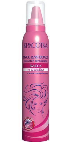 Мусс для укладки волос КРАСОТКА Блеск и объем (150 мл)