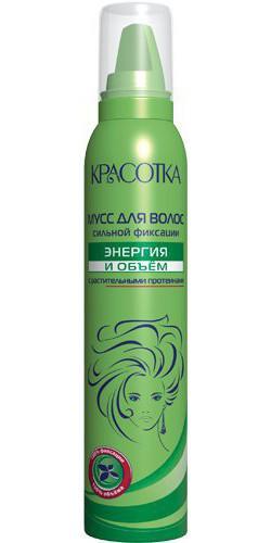 Мусс для укладки волос КРАСОТКА Энергия и объем (150 мл)