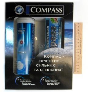 Набор мужской Compass (пена для бритья 200мл, бальзам после бритья)